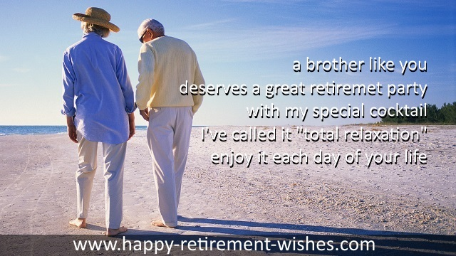 retirement sayings from step brother